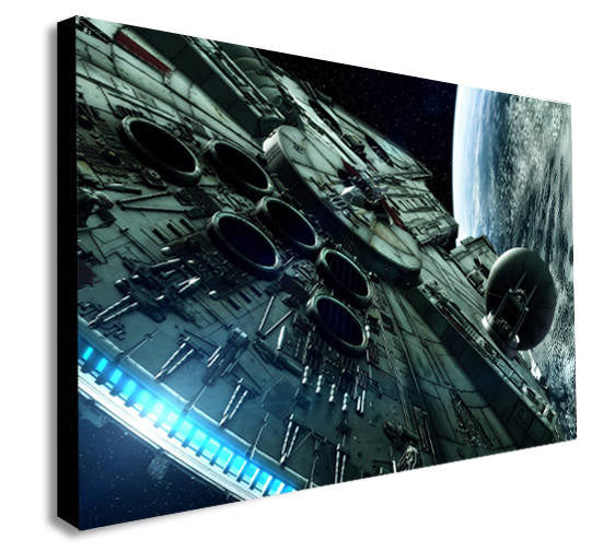 Millennium Falcon Star Wars Canvas Wall Art Framed Print - Various Sizes