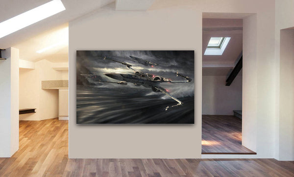 X Wing Star Wars Canvas Wall Art Print - Various Sizes