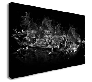 F1 Formula 1 Abstract  Canvas Wall Art Framed Print - Various Sizes