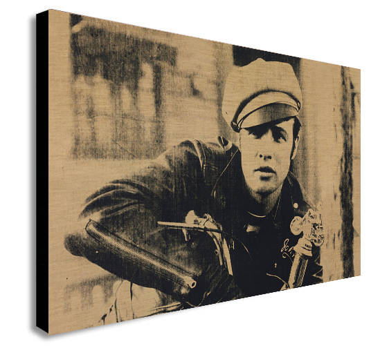 Marlon Brando - Andy Warhol Canvas Wall Art Print - Various Sizes