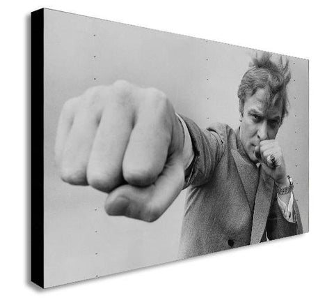 Michael Caine Actor Icon Retro Canvas Wall Art Print - Various Sizes