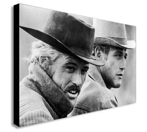 Butch Cassidy and the Sundance Kid Canvas Wall Framed Art Print - Various Sizes
