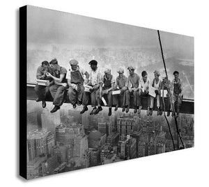 Lunch Atop Skyscraper - Canvas Wall Art Print - Various Sizes