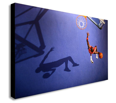 Michael Jordan Canvas Wall Art Framed Print - Various Sizes