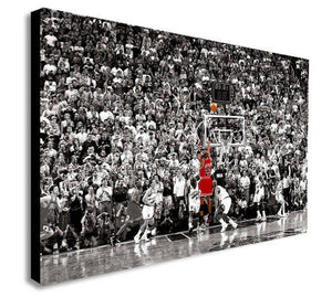 Michael Jordan Last Shot Canvas Wall Art Print - Various Sizes
