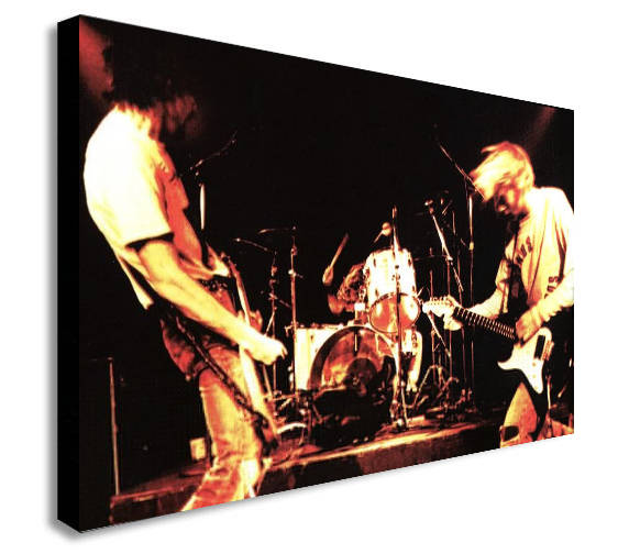 Nirvana Grunge Rock Band - Live Canvas Wall Art Print - Various Sizes