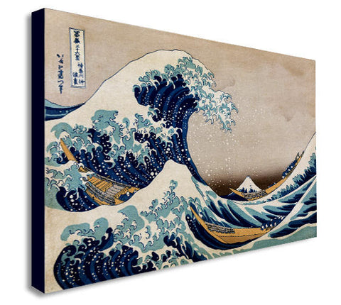 The Great Wave off Kanagawa Canvas Wall Art Print -Various Sizes