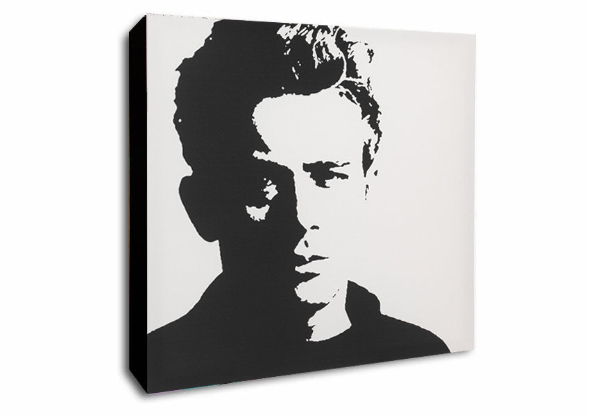 James Dean - Framed Canvas Wall Art - Various Sizes
