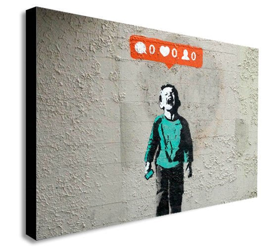 Banksy - Nobody Likes Me - Canvas Wall Art Print - Various Sizes