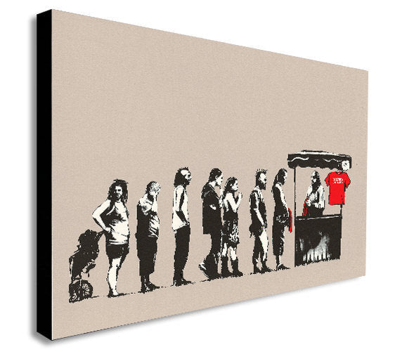 Banksy - Destroy Capitalism - Canvas Wall Art Print - Various Sizes