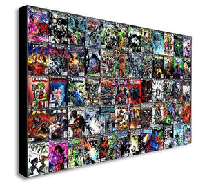 DC Comics Super Hero Collage Canvas Wall Art Print - Various Sizes
