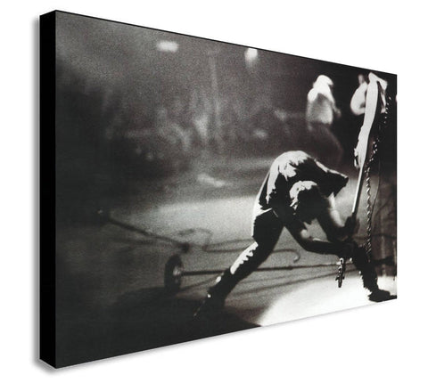 The Clash - London Calling - Canvas Wall Art Framed Print - Various Sizes