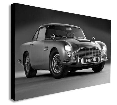 Aston Martin DB5 - James Bond - Canvas Wall Art Print - Various Sizes