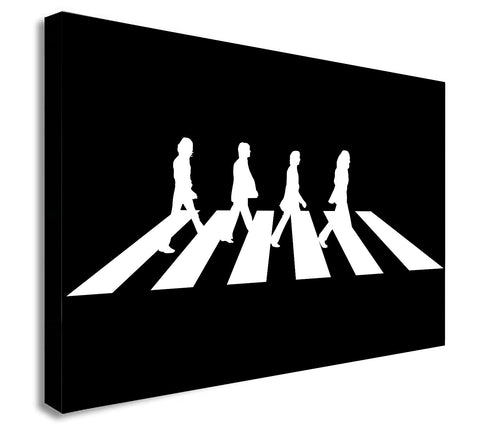 The Beatles Abbey Road - Canvas Wall Art Framed Print - Various Sizes