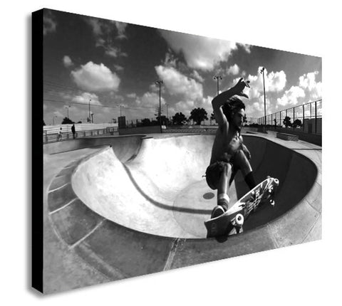 Dogtown and Z Boys Inspired Skateboarding - Canvas Wall Art Framed Print - Various Sizes