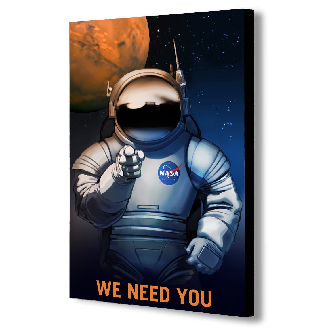 NASA We Need You - Recruitment Canvas Wall Art Framed Print -Various Sizes