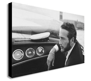 Paul Newman Speed Boat  - Canvas Wall Art Framed Print - Various sizes