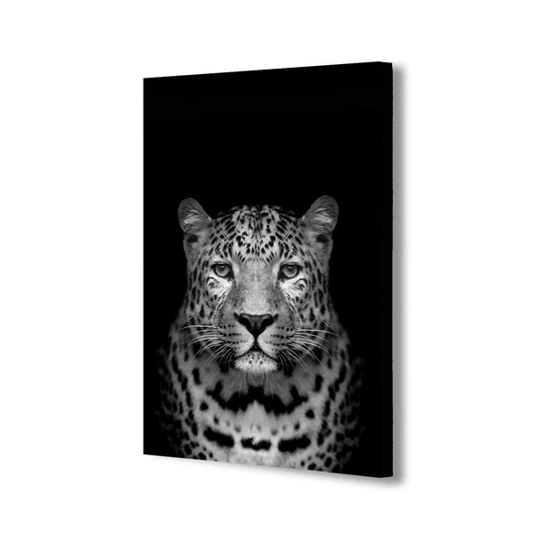 Wild Leopard Portrait - Canvas Wall Art Framed Print - Various Sizes