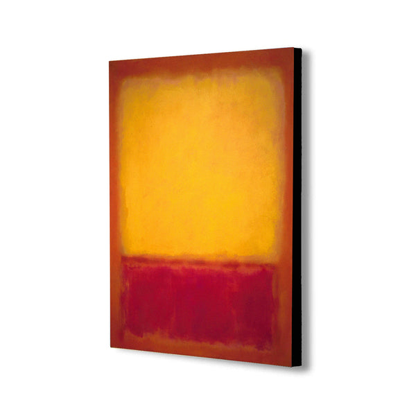 Yellow over Purple by Mark Rothko - Canvas Wall Art Framed Print - Various Sizes