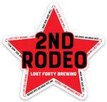 "3""x3"" 2nd Rodeo Sticker"