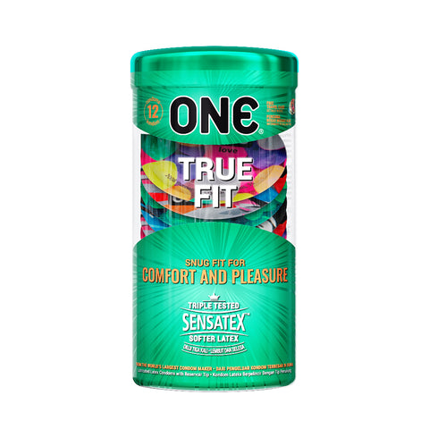 ONE®️ Kondom True Fit - 12 Pcs