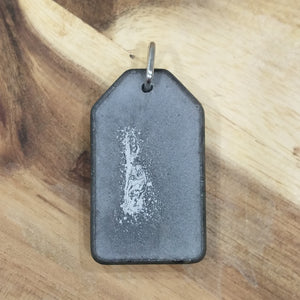 SoFlow Copper Coil/Orgonite - grey dog tag