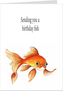 Birthday Fishes To You Fish Birthday Card