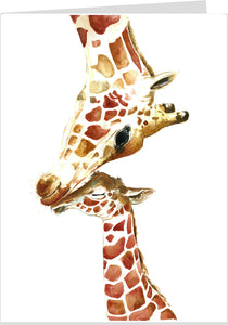 Giraffe and Baby Card