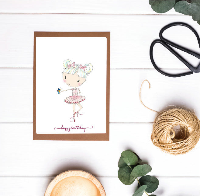 Eloise Happy Birthday Ballerina Card