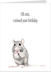 Oh Rats I Forgot Your Birthday Card