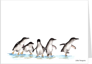 Little Penguins Walking Card