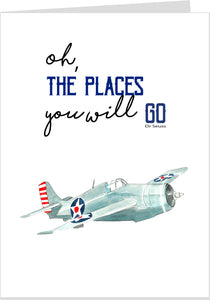 Dr Seuss Card- The Places You Will Go