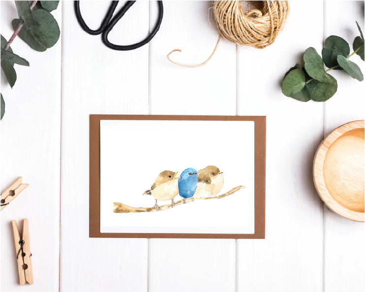 Family of Finches Card