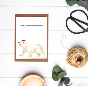 Christmas Pun Card - Have a Beary Merry Christmas