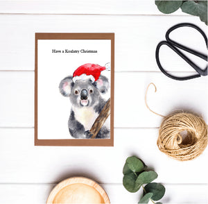 Christmas Pun Card - Have a Koalatry Christmas