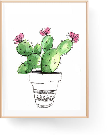 Flowering Bunny Ear Cactus Digital Download