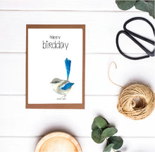 Happy Birdday Willy Wagtail Card