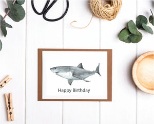 Shark Happy Birthday Card