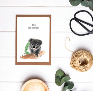 Have a Koala - Tree Birthday Card