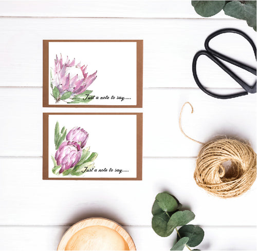 6 pack of (12.5 x 8.7) Botanical Greeting Cards