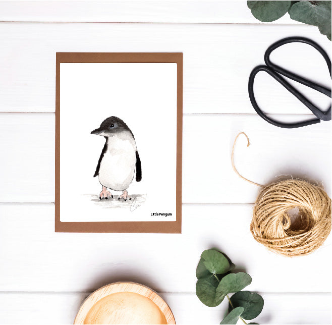 Small Little Penguin Card
