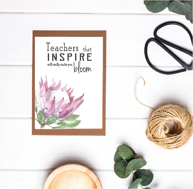 Teacher Appreciation / Teacher Christmas Print - Teachers That Inspire Really Make You Bloom
