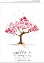 The Love In Our Family Cherry Blossom Card
