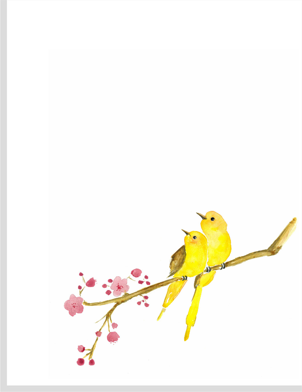 Two Yellow Love Birds