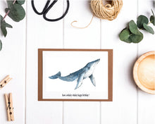 Have a Whaley Happy Birthday Whale Card