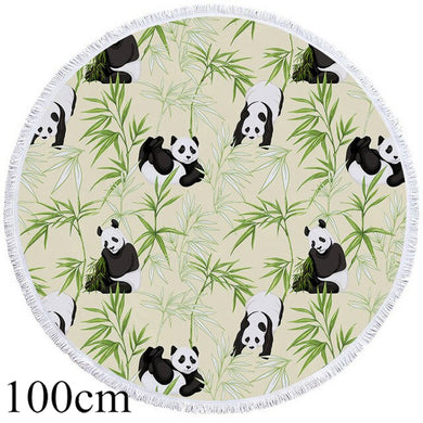 Playful Panda Round Beach Towel - 2 sizes