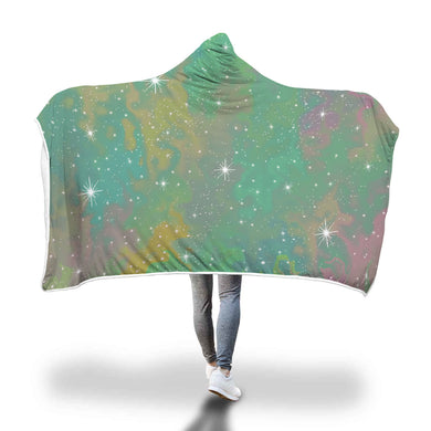 Green Galaxy Hooded Blanket - 2 sizes - My Diva Baby