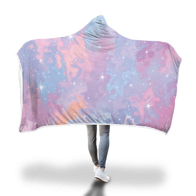 Pink Galaxy Hooded Blanket - 2 sizes - My Diva Baby