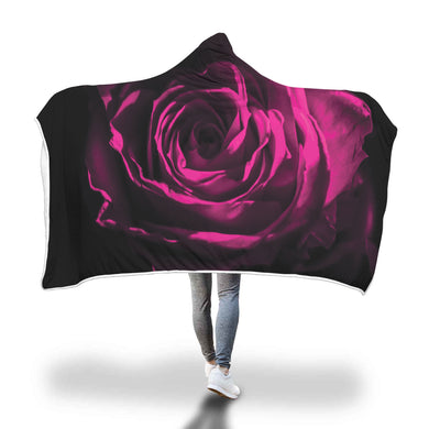 Pink Rose Hooded Blanket - 2 sizes - My Diva Baby