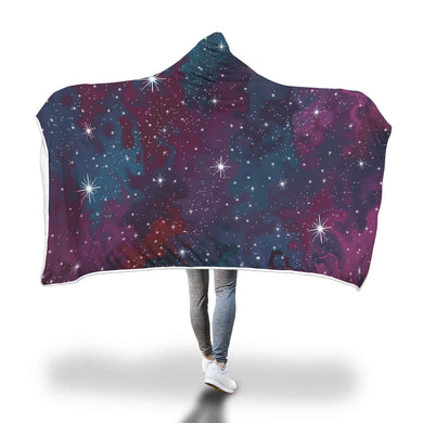 Purple Galaxy Hooded Blanket - 2 sizes